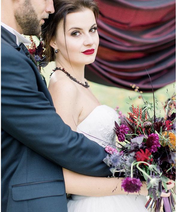 Svatební účes a líčení